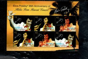 TUVALU #1069  2010      ELVIS PRESLEY   MINT VF NH  O.G  SHEET 6
