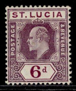ST. LUCIA EDVII SG72ab, 6d dull purple & bright purple, M MINT.