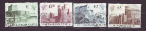 J23537 JLstamps 1988 great britain set used #1230-3 castles