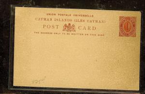 CAYMAN ISLANDS  (P2104B)  PSC 1D RED  UNUSED