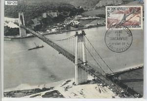 59120  -  FRANCE - POSTAL HISTORY: FDC MAXIMUM CARD 1959  -  Architecture BRIDGE
