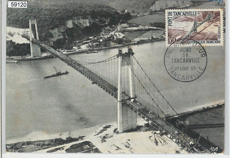 59120  -  FRANCE - POSTAL HISTORY: FDC MAXIMUM CARD 1959  -  Architecture BRIDGE
