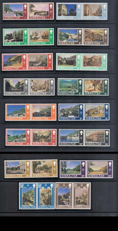 Gibraltar 1971 Sc 241-272 Set of 32 MNH