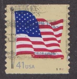 US #4187 U.S. Flag Used PNC Single plate #S11111