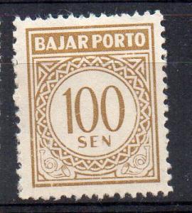 INDONESIA - TAXATION STAMP - 1962 - 100 Sen -