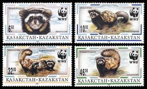 Kazakhstan WWF Marbled Polecat 4v SG#148-151 MI#154-157 SC#171-174