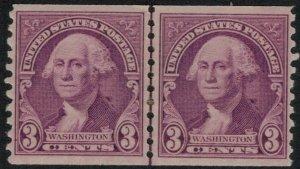 U.S. #721* Coil Line Pair CV $10.00