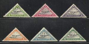 Liberia Air Mail 1936 Scott# C3A-C3F Used