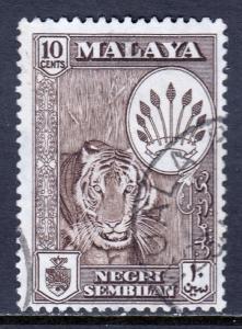 Malaya (Negri Sembilan) - Scott #69 - Used - Sepia - SCV $0.25
