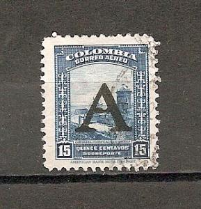 COLOMBIA STAMP, VFU CORREO AEREO QUINCE CENTAVOS # C14