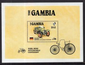 Gambia 629 Car Souvenir Sheet MNH VF
