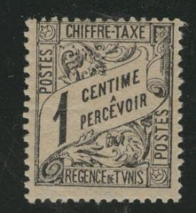 Tunis Tunisia Scott J1 MH* 1901 postage dues