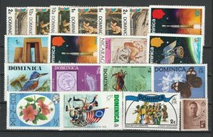 Dominica Commemorative Stamps MNH** & Used Lot Collection 14305