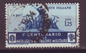 J13951 JLstamps 1934 italy used #338 military