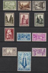 1933 Belgium/Belgium/Belgique - Cob N°363/374 12v.' Grande Orval ' MNH