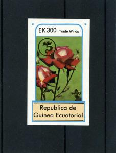 Equatorial Guinea 1982 Roses Gold Ovpt.Scouts s/s Imperforated Mint (NH)