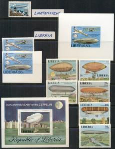 ZEPPELIN STAMP COLL. ANGUILLA-ZAIRE, MOSTLY 1960'S-1980'S ALL MINT HIGH CAT