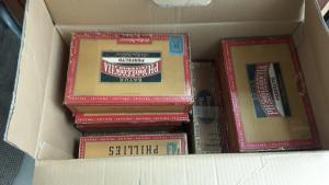 25,000 US WORLDWIDE STAMPS ON 15 CIGAR BOX COLLECTION LOT HIGH CV