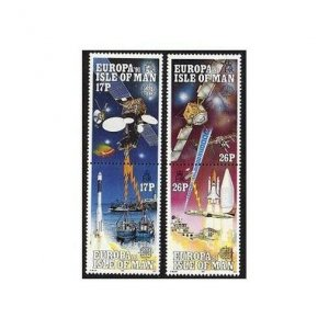 Isle of Man 468-471a pairs,MNH.Michel 464-467. EUROPE CEPT-1991.Space research.