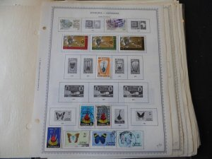 Ethiopia 1966-1993 Stamp Collection on Album Pages