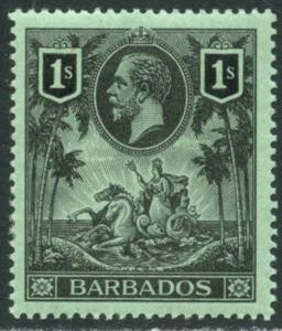 BARBADOS Sc#124 SG178 1912 1sh KGV High Value OG Mint LH