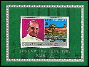Yemen AR Michel Block 100, MNH, Pope Paul VI and the I.L.O. souvenir sheet