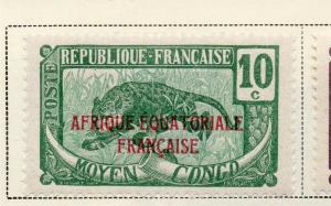 Middle Congo 1924 Early Issue Fine Mint Hinged 10c. Optd 324727