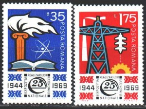 Romania. 1969. 2783-85 in a series. Trade development of national industry. MNH.