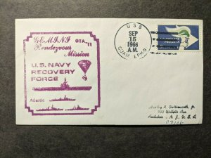 USS GUAM LPH-9 Naval Cover 1966 GEMINI SPACE Cachet GTA-11 RECOVERY FORCE