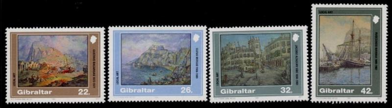 Gibraltar 596-9 MNH Art, Boats, Architecture