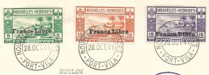 Doyle's_Stamps: French New Hebrides 1941 Possible FDC