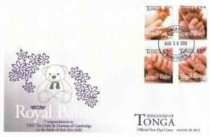 Tonga Royal Baby Prince 2013 Bear Toy (stamp FDC)