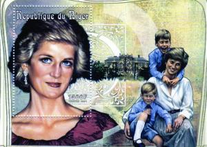 Niger 1997 Sc#965 Diana with William & Harry SS(1) perf.MNH