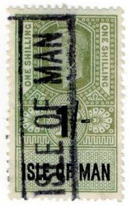 (I.B) George VI Revenue : Isle of Man 1/-