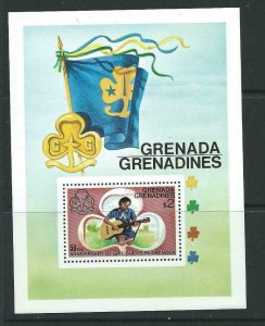 GRENADA GRENADINES SGMS168 1976 50th ANNIV OF GIRL GUIDES IN GRENADA MNH