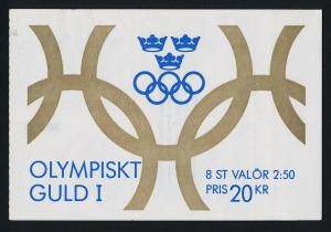 Sweden 1897a Booklet MNH Sports, Olympic Champions