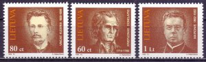 Lithuania. 1994. 550-52. writers. MNH.