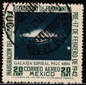MEXICO C123, 20¢ Tonanzintla Astrophysics Observ Used, F-VF. (1142)