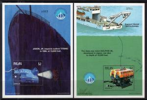 Palau 459-460 Submarines Souvenir Sheets MNH VF