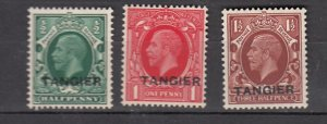 J26341  jlstamps 1934-5 great britain morocco set mh #505-7 ovpt perf 14 1/2x14