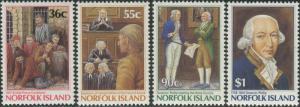 Norfolk Island 1986 SG396-400 Settlement 1st issue part set MNH