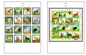 COLOR PRINTED MALTA 2011-2018 STAMP ALBUM PAGES (71 illustrated pages)