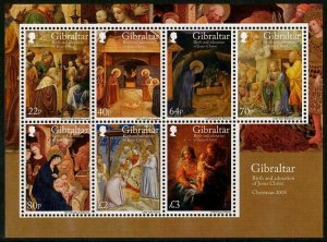 HERRICKSTAMP NEW ISSUES GIBRALTAR Christmas 2018 Souvenir Sheet