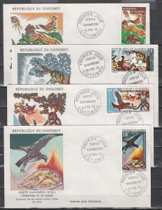 Dahomey, Scott cat. 317-320. Folktales issue. 4 First day covers.