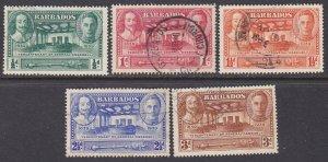 Barbados Sc #202-206 Used; Mi #170-174