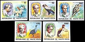 Upper Volta 368-369,C212-214, MNH imperf., Albert Schweitzer and Birds