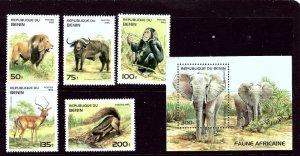 Benin 774-79 MNH 1995 Wildlife    (ap3418)