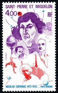 St Pierre & Miquelon C56, MNH. Copernicus, Kepler, Newton, Einstein, 1974