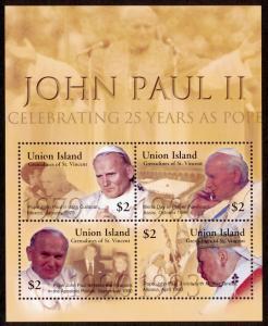 St Vincent Grenadines Union Island 283 MNH Pope John Paul II