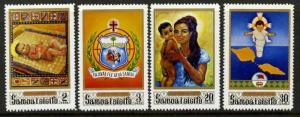 Samoa 333-6 MNH Christmas. Holy Family, Peace for the World